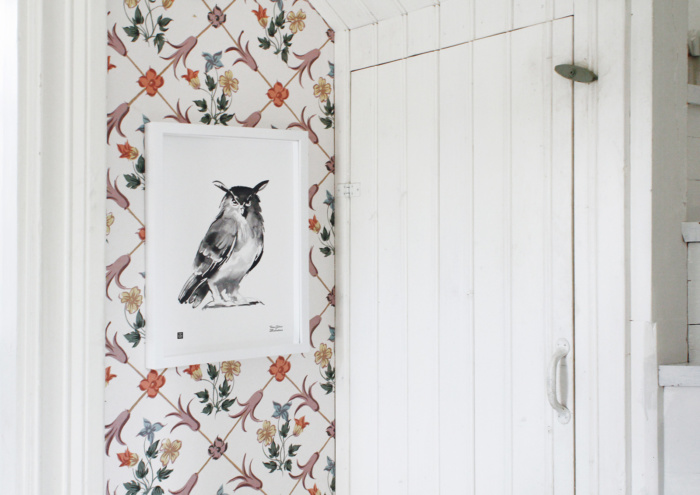 Bring a piece of wilderness to your home with the Eagle-owl art poster.