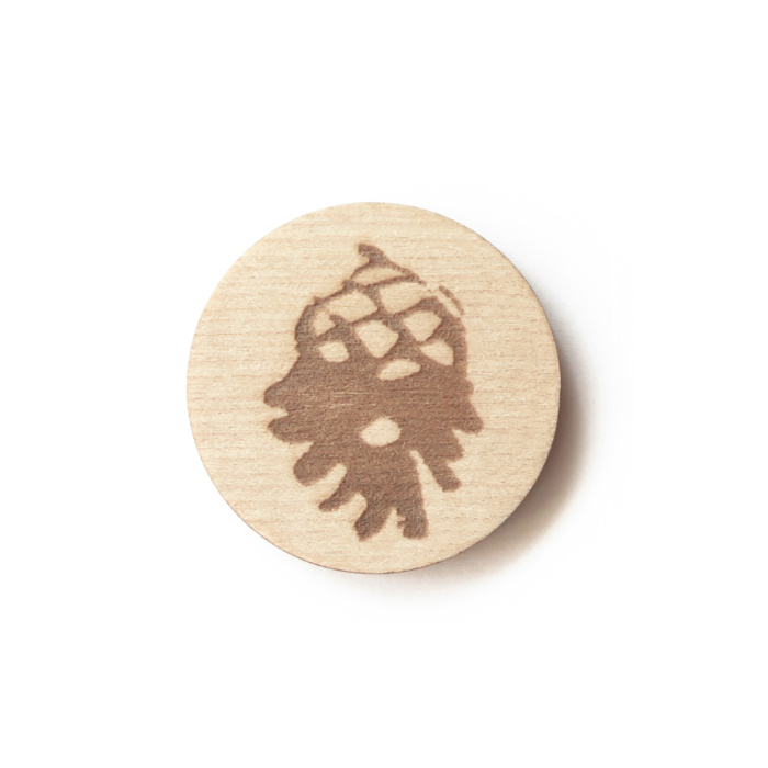 Pine cone magnet