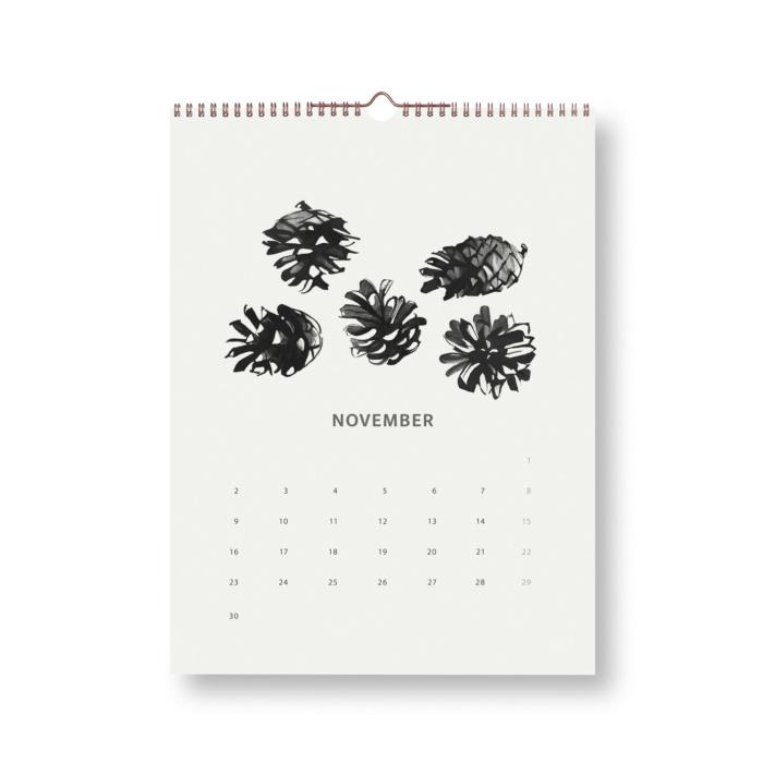 wpine cones wilderness calendar 2020 teemu järvi