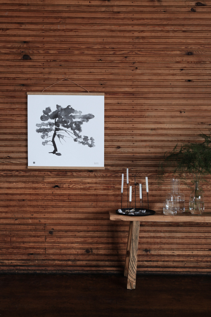 pine tree art print poster by teemu jarvi