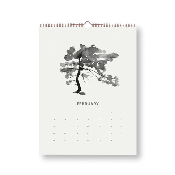 pine tree wilderness calendar 2020 teemu järvi