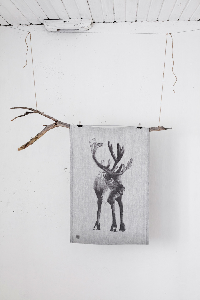 Reindeer woven home textile
