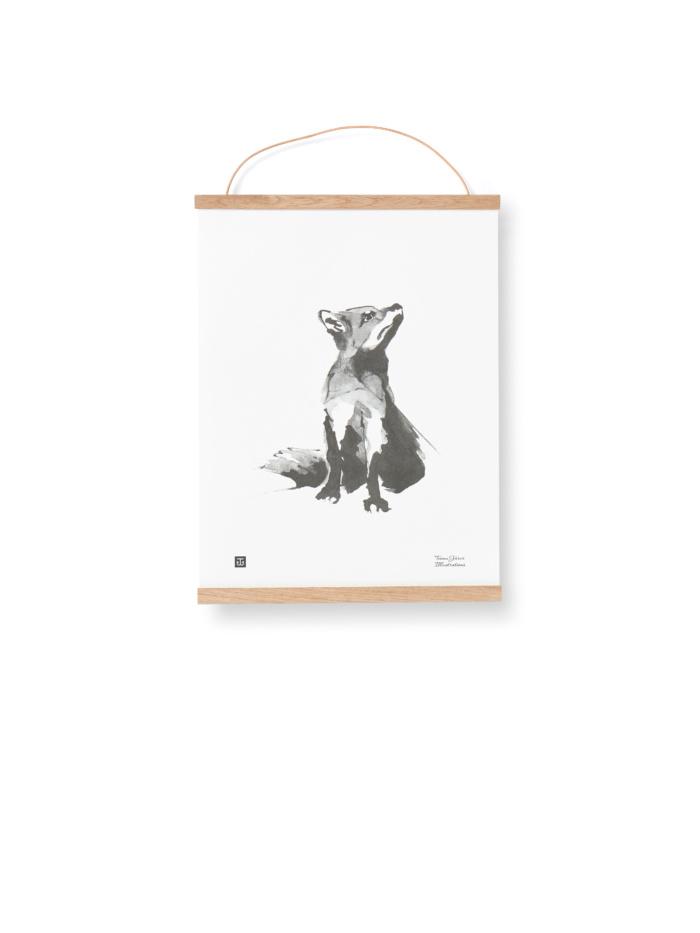 Wooden poster frame fox