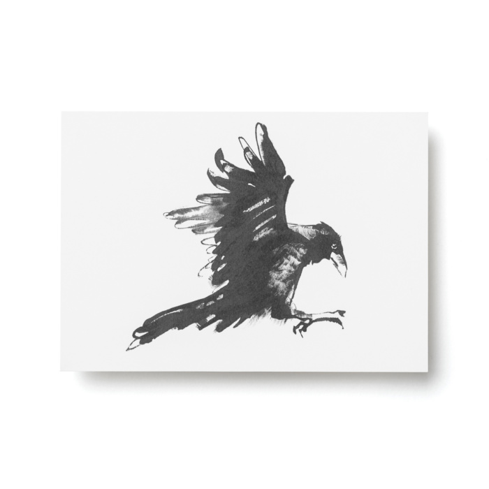 raven forest greetings postcard art print by teemu jarvi