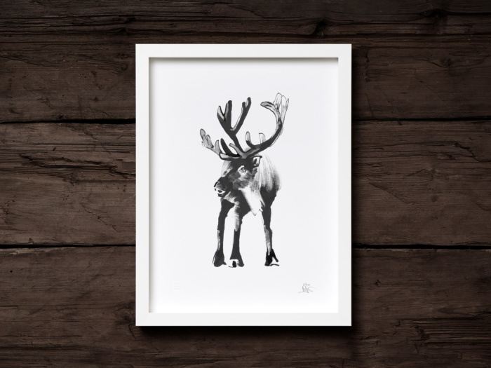 Reindeer framed wall art