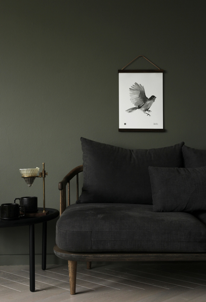 Siberian Jay wall art with wooden frames