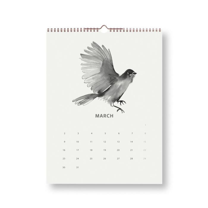 wsiberian jay wilderness calendar 2020 teemu järvi