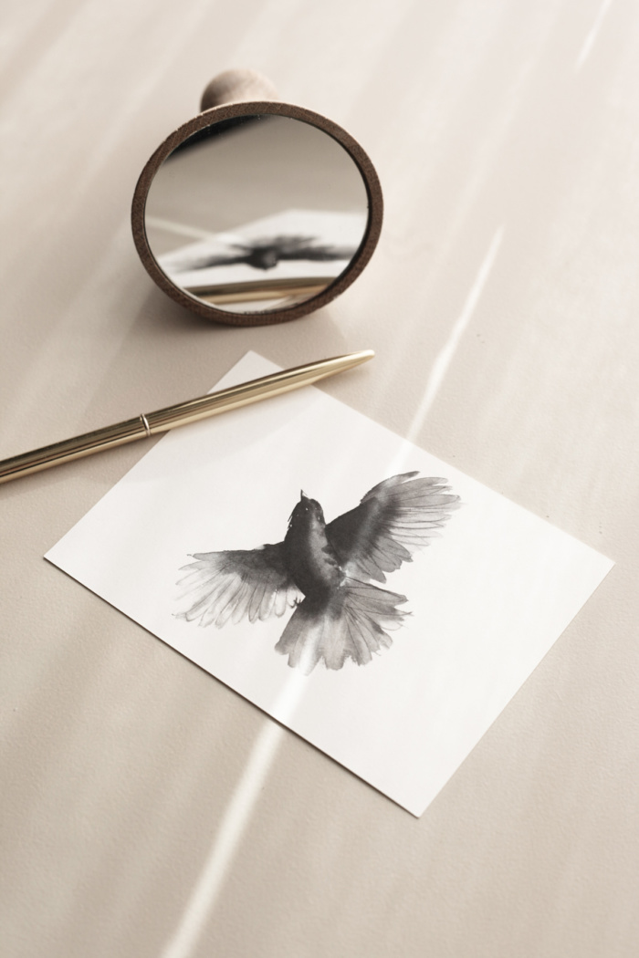 siberian jay art print postcard by teemu jarvi