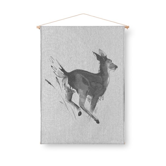 white-tailed deer art textile by teemu jarvi