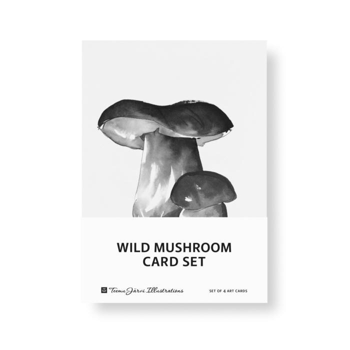 wild mushroom postcard set art print by teemu jarvi