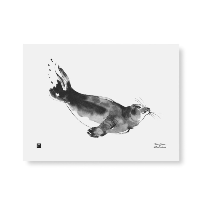 Black & White seal poster