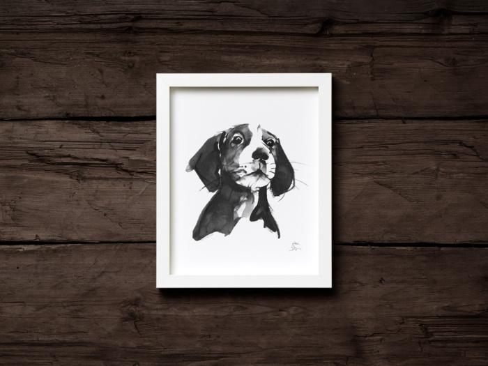 Hound dog fine art print
