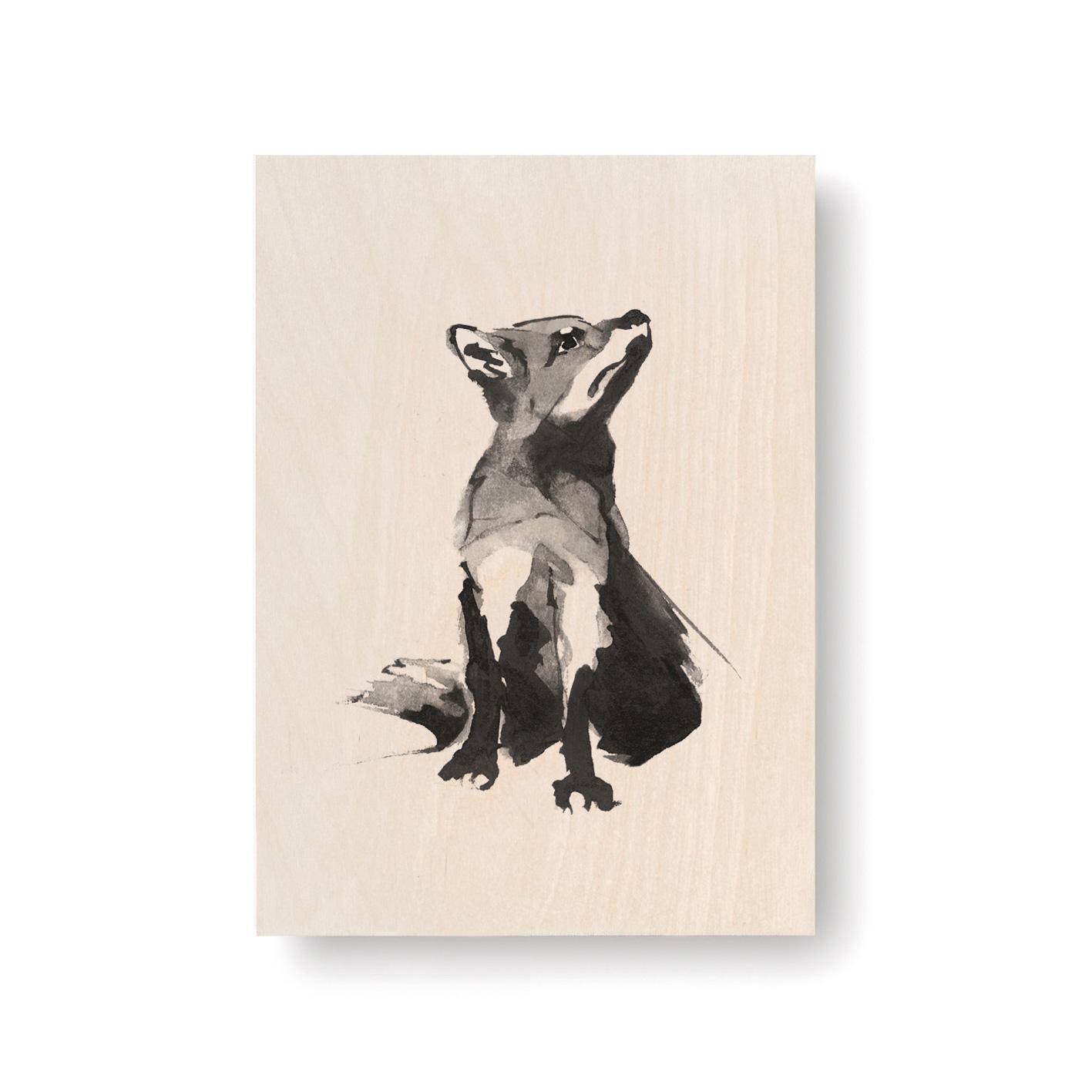 Fox plywood art card