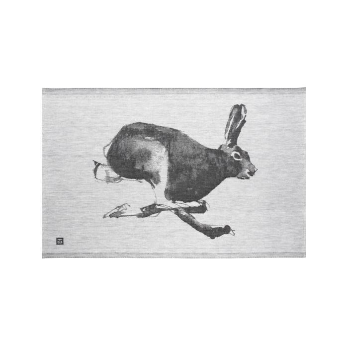 Hare tea towel