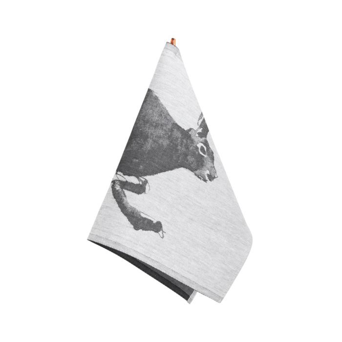Hare woven tea towel