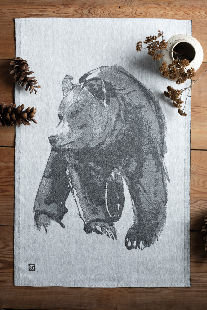 Gentle Bear tea towel home textile