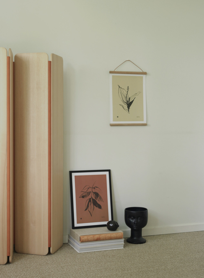 Sand Lily of the valley & Autumn colored Ash art with wooden frames