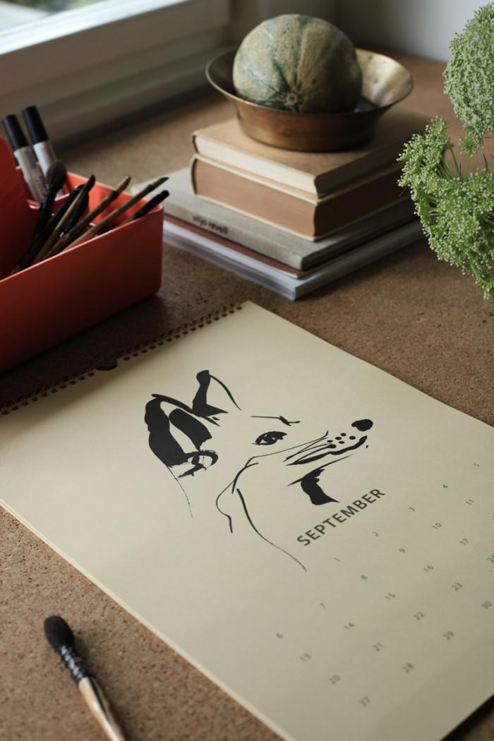 Fox Tales wall calendar 2021 - September - Teemu Järvi Illustrations