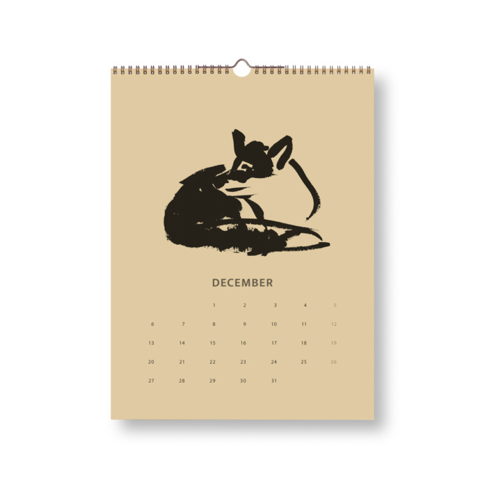 Black & Sand Fox tales calendar 2021 December