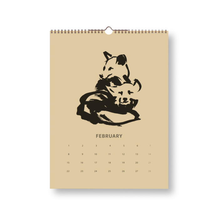 Black & Sand Fox tales calendar 2021 February