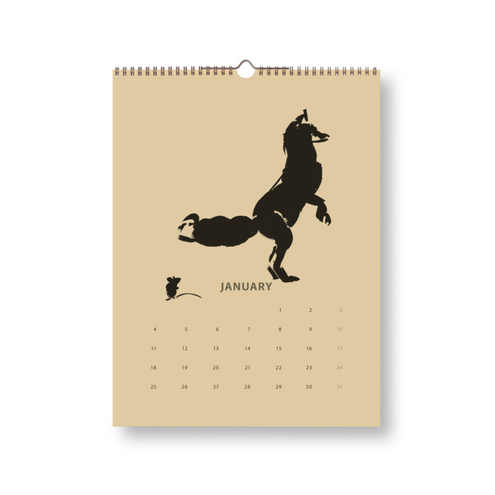 Black & Sand Fox tales calendar 2021 January