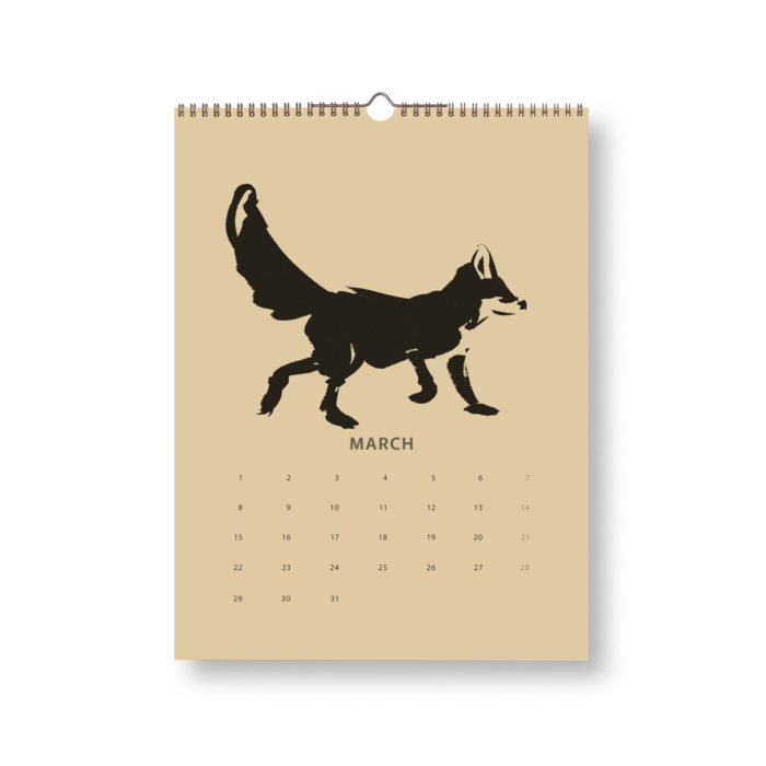 Black & Sand Fox tales calendar 2021 march