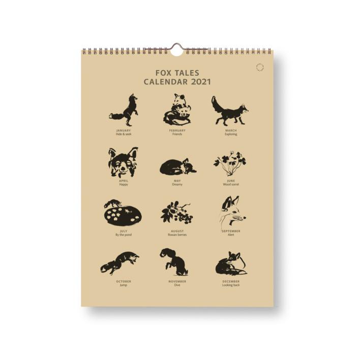 Black & Sand Fox tales calendar 2021