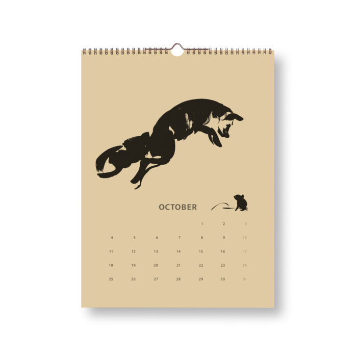 Black & Sand Fox tales calendar 2021 october