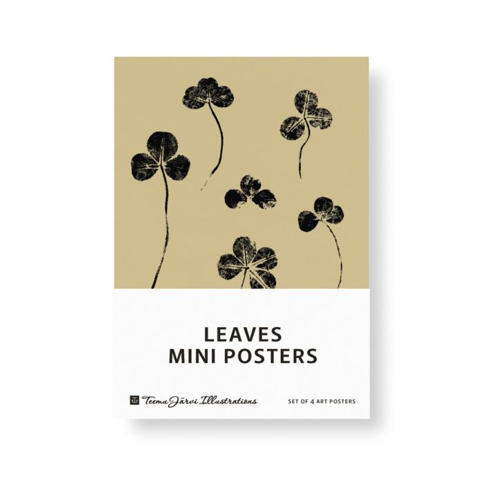 Leaves mini posters set