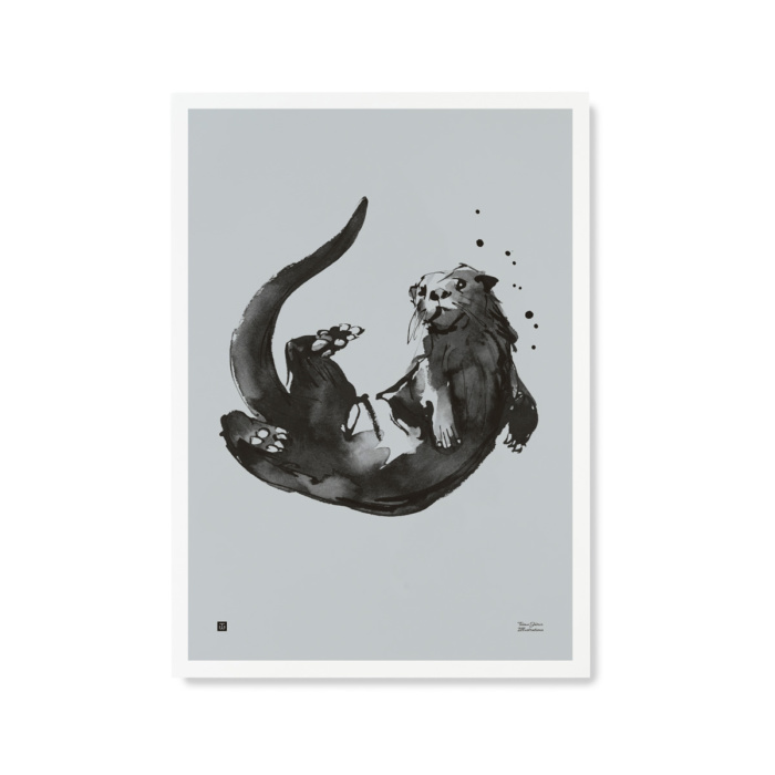 Water blue Otter wall decor