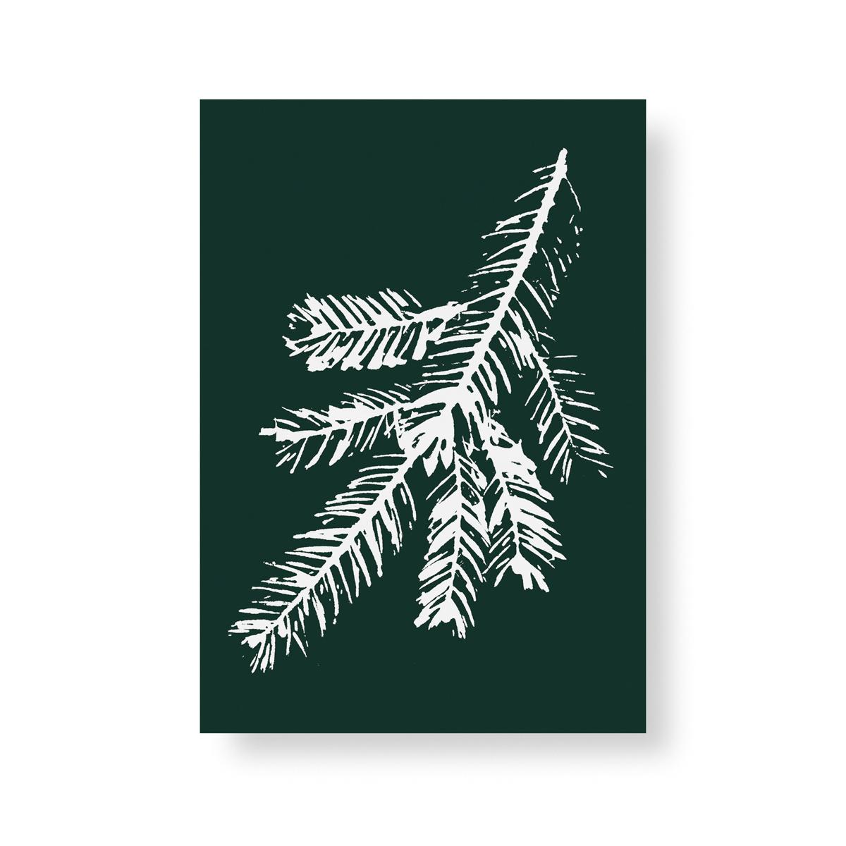 Spruce branch mini poster