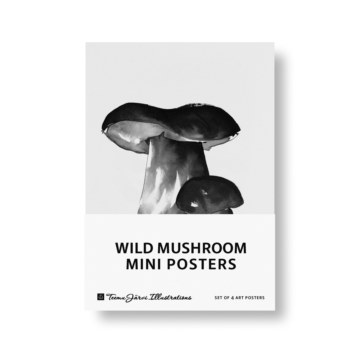 Wild Mushroom mini poster set