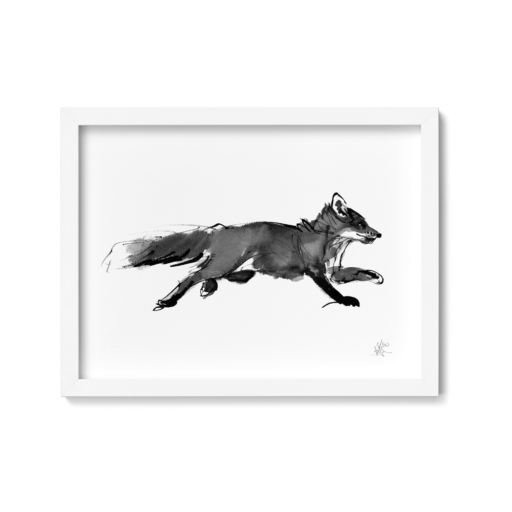 Adventurous fox art print