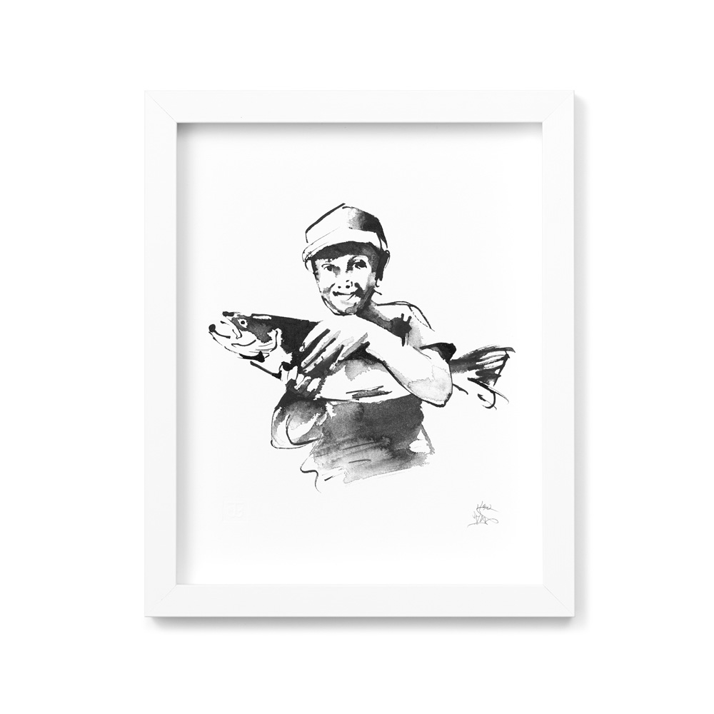 What a catch! art print
