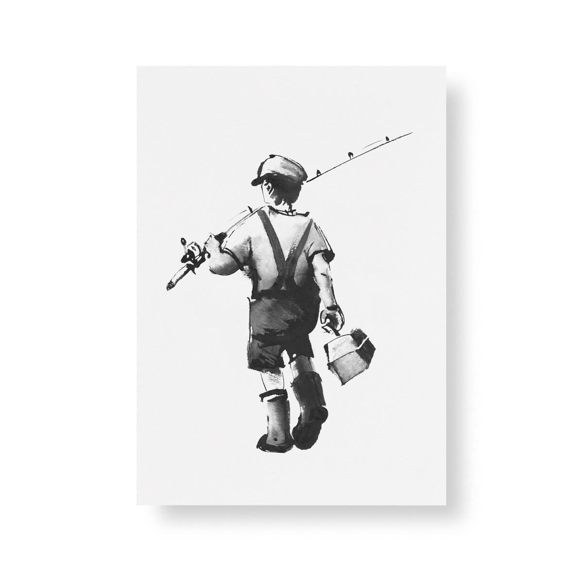 Gone Fishing mini poster