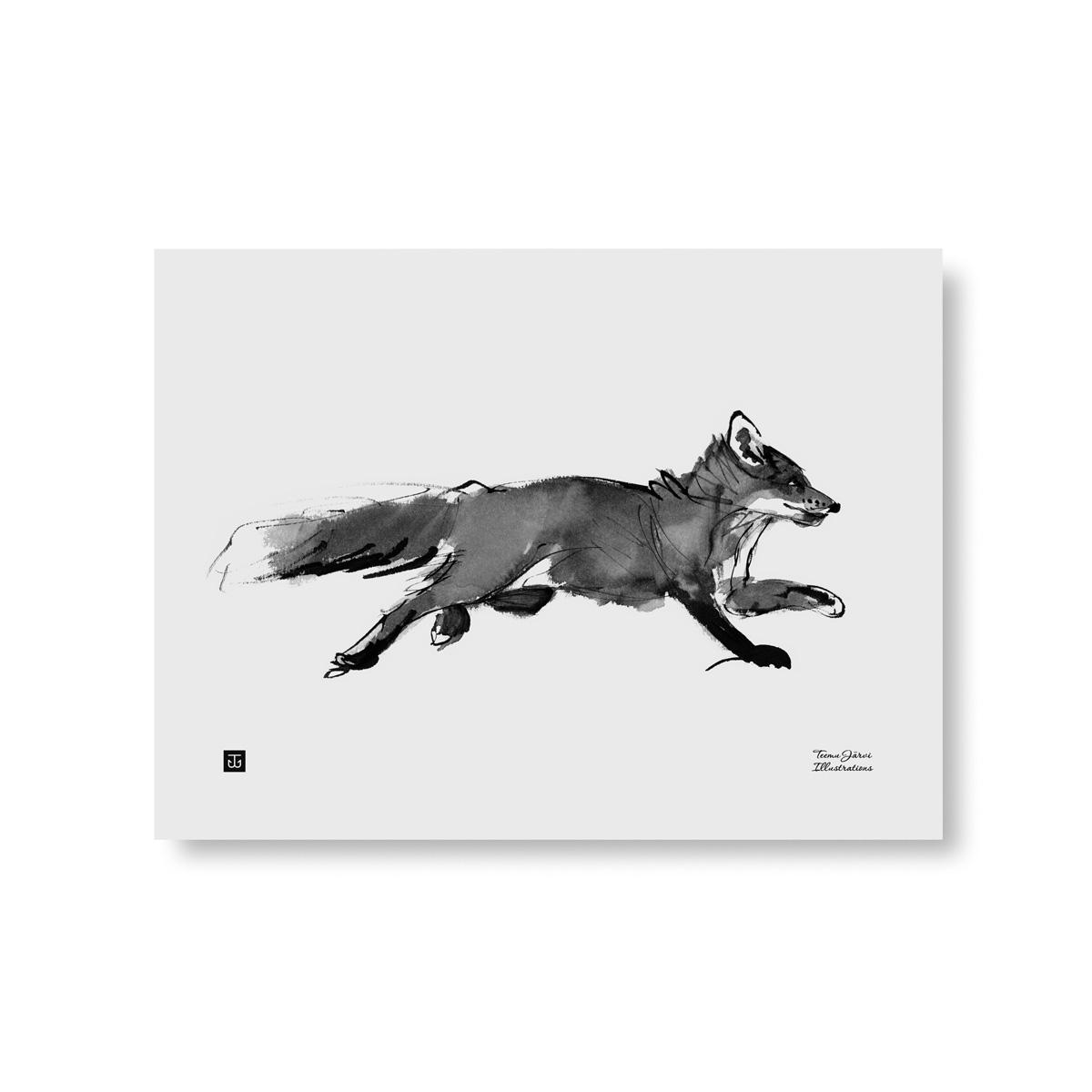Adventurous fox poster