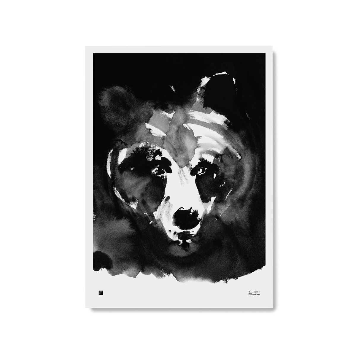 Mysterious bear poster