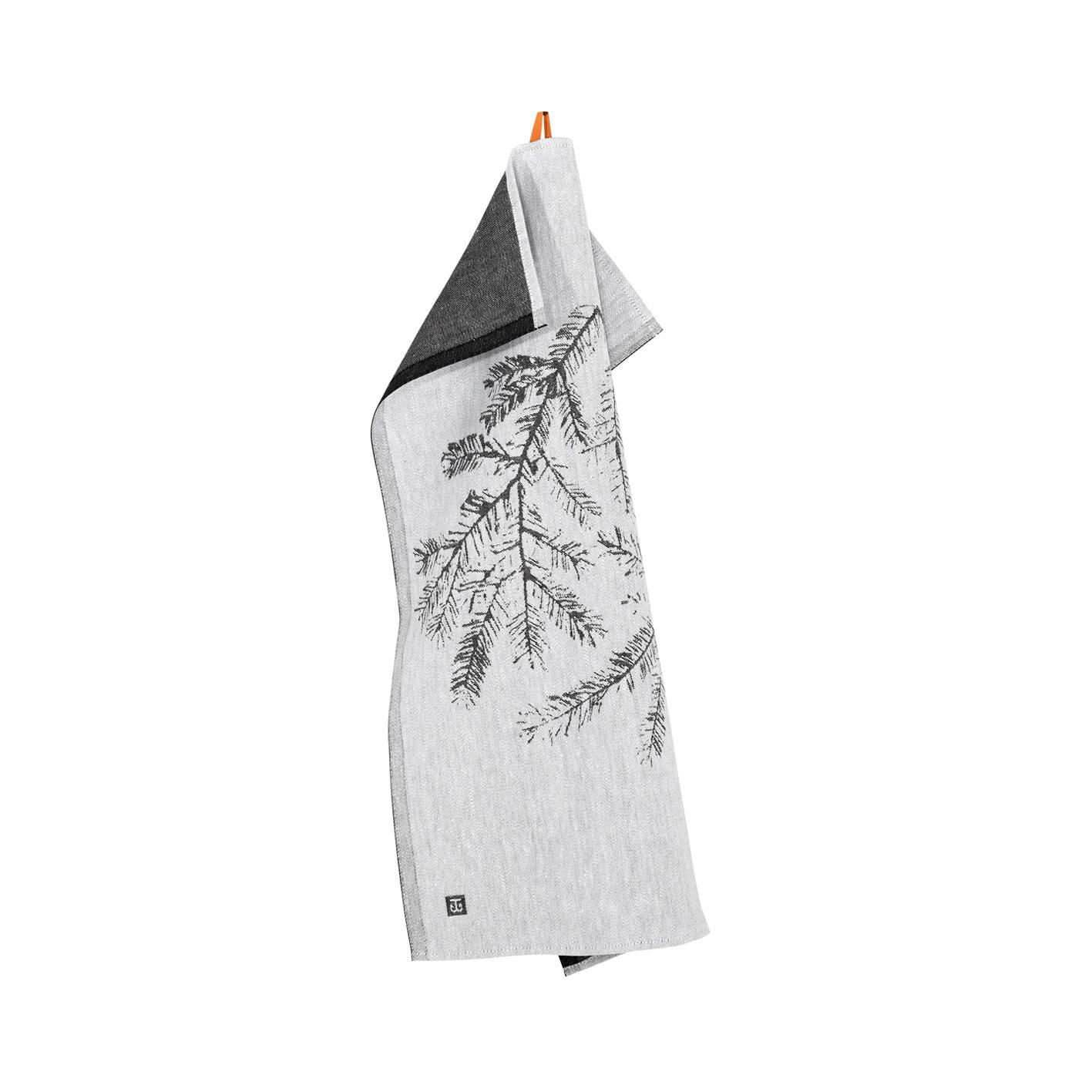 Spruce branch tea towel