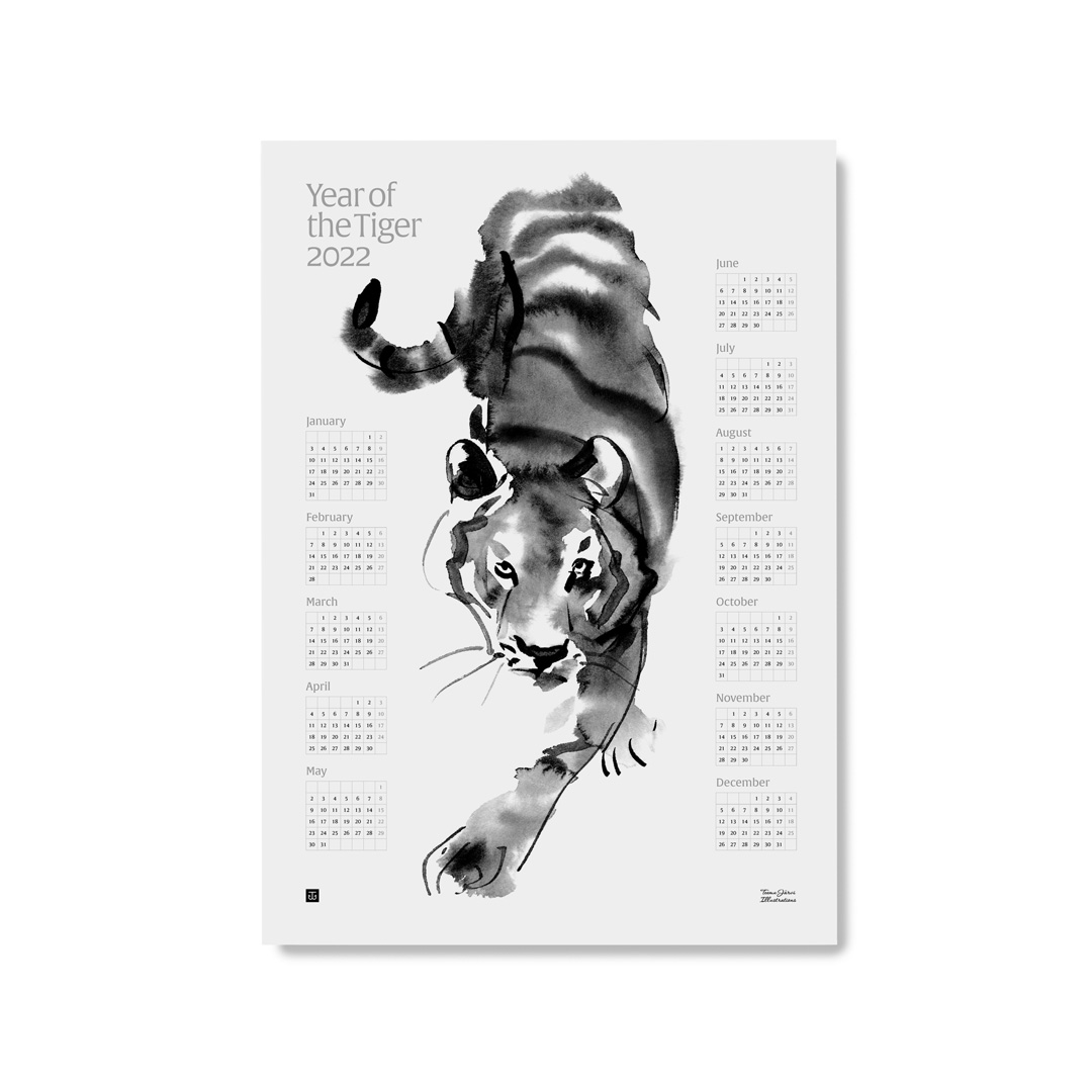 Year of the Tiger 2022 calendar