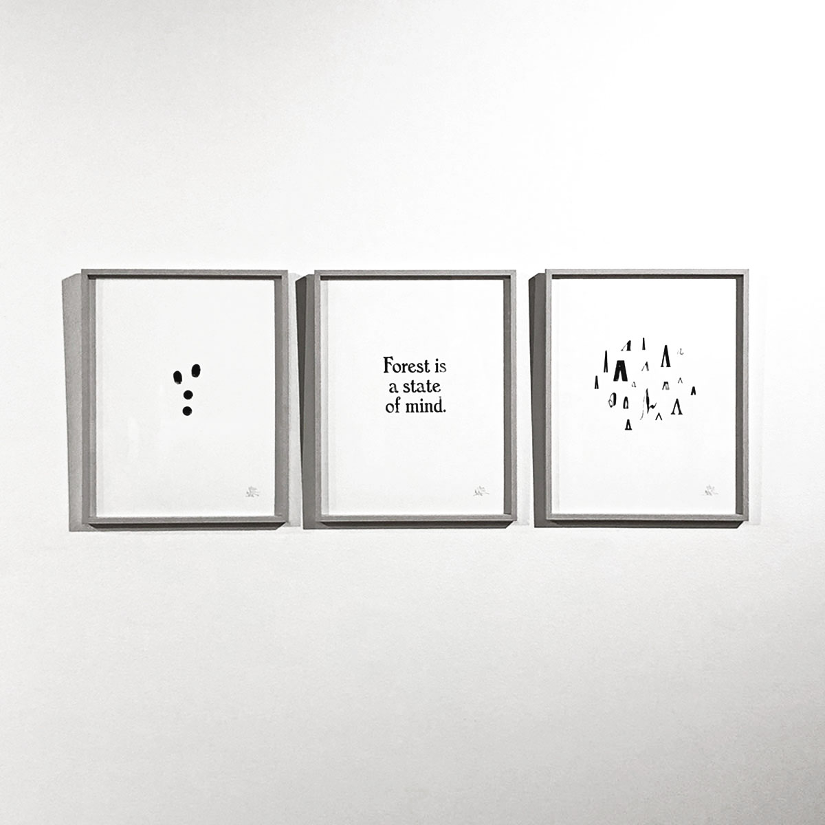 Forest is a state of mind – set of 3 art prints